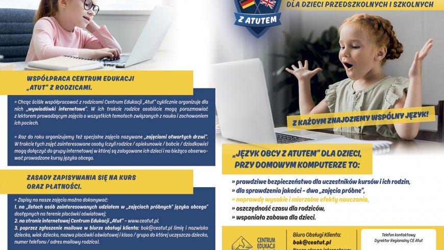 Internetowy kurs język obcego dla dzieci